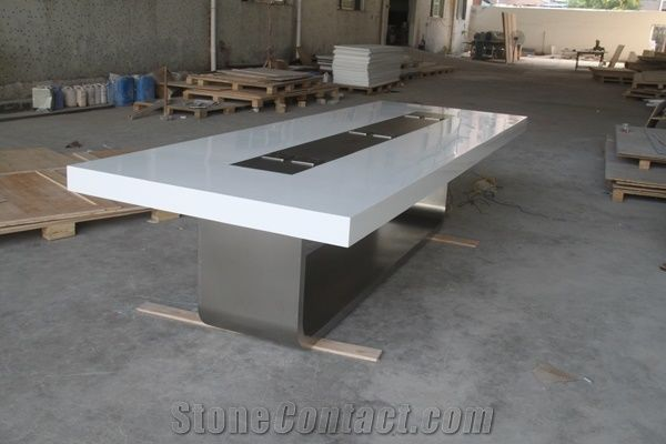 Modern Conference Table White Meeting Table White