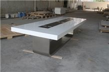 Modern Conference Table,White Meeting Table, White Conference Tables
