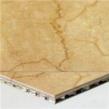 Welest Botticino Classico Beige Composite Marble Tile,Honeycomb Marble Panel,Cmh002