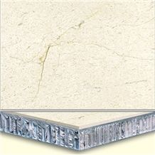 Welest Golden Beige Composite Marble Tile,Honeycomb Marble Panel, Cmh004