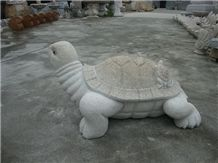 Wellest Animal Sculpture & Statue, Handcarved Grey Turtle Sculpture,Grey Granite Sculpture,Natural Stone Carving,Sas003