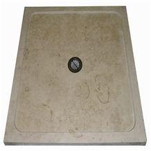 Wellest Beige Limestone Square Shower Base& Shower Tray,Bath Accessories,Svs005