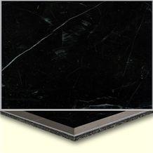 Wellest Black Marquina Aluminium&Plastic Base Composit Marble Tile,Cma006