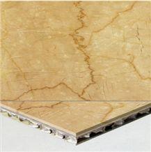 Wellest Botticino Classico Beige Marble on Top,Honycom Base Panel,Composit Marble Tile& Slab,Cmh002