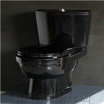Wellest china black granite toilet bowl stone closestool - Black marble bathroom accessories ...