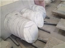 Wellest China White Marble Bar Top, Restaurant Top,Tea Top,Coffee Top,Round Top, Round Table,Natrual Stone Top