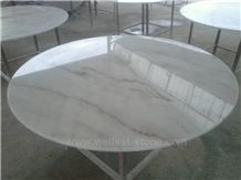 Wellest China White Marble Restaurant Top,Tea Top,Coffee Top,Round Top, Round Table,Natrual Stone Top