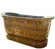 Wellest Coffee Travertine Bathtub,Natural Stone Bathtub,Natural Marble Bathtub,Sbt003
