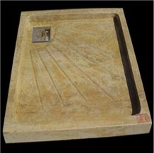 Wellest Copper Yellow Marble Square Shower Base & Shower Tray,Bath Accessories,Svs007