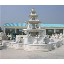 Wellest Exterior Water Spray White Marble Fountain,Garden Fountain,Carved Sculpture Fountain,Sfb004