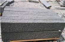 Wellest G654 Sesame Black Granite Kerb Stone, Rough Picked, Side Stone,Road Stone,Ks015