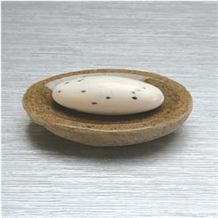 Wellest G682 Sunset Gold Rusty Yellow Granite Oval Shape Soap Dish,Soap Dish,Bath Accessories,Sst003