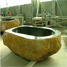 Wellest Gold Marble Bathtub,Natural Stone Bathtub,Natural Marble Bathtub,Sbt012