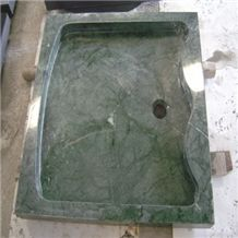 Wellest Green Marble Square Shower Base & Shower Tray,Bath Accessories,Svs009