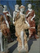 Wellest Iconology Sculpture & Statue, Handcarved Fairy Sculpture,Natural Stone Carving,Sis007