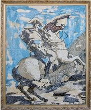 Wellest Stone Tablets Marble Mosaic Paiting,Stone Decorative Artwork,Artifacts & Handcrafts,Sp011