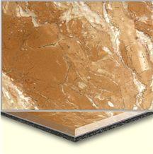 Wellest Tea Rose Aluminium&Plastic Base Composit Marble Tile, Cma001