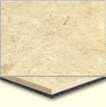 Wellest Tiger Beige Aluminium&Plastic Base Composit Marble Tile,Cma003