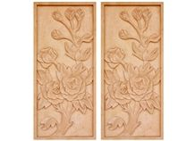 Wellest Yellow Sandstone Carved Relief, Flower Embossment, Stone Etching,Decorative Artifacts&Handcrafts,Bc003