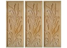 Wellest Yellow Sandstone Carved Relief, Flower Embossment, Stone Etching,Decorative Artifacts&Handcrafts,Bc010