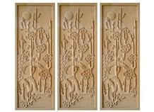 Wellest Yellow Sandstone Carved Relief, Flower Embossment, Stone Etching,Decorative Artifacts&Handcrafts,Bc011