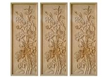Wellest Yellow Sandstone Carved Relief, Flower Embossment, Stone Etching,Decorative Artifacts&Handcrafts,Bc012