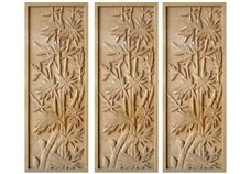 Wellest Yellow Sandstone Carved Relief, Flower Embossment, Stone Etching,Decorative Artifacts&Handcrafts,Bc013