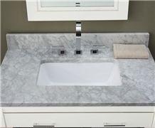 Giga Honed White Marble Vanity Top
