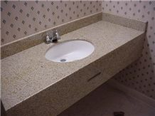 Giga Pink Granite Bathroom Countertops