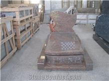 French Style Monument, Red Granite Monuments,New Style Red Granite Tombstones