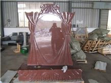 Monument Imperial Red, India Red Ruby Red Monument, Imperial Ruby India Red Granite Monuments