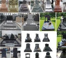 New Design & Hot Multicolor Granite Tombstone from China,Multicolor Granite Monuments from China Forsale