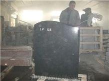 Ogee Headstone, Hebei Black Granite Monument & Tombstone, Chinese Hebei Black Granite Monument