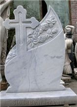 White Marble Carving Tombstone, White Headstone, Han White Marble Monument & Tombstone