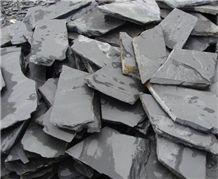 Black Random Slate Tiles for Wall and Flooring, Black Slate Flagstone
