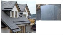 China Black Roof Slate Tiles