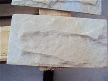 Beige Quartzite Mushroomed Wall Stone