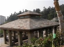 China Rusty Slate Roof Tiles,Silver Mink Roof Tiles