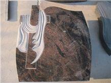 Aurora Granite Polished Tombstone,Gravestone