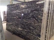 Brazil Amazon Black Granite Polished Gangsaw Slab