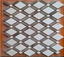 Diamond White Jade W/ Grey marble mosaic
