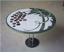 Marble Water-Jet Medallion Table
