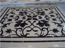 Marble Waterjet Medallions,Square Floor Medallions