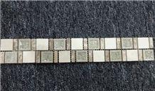 Polished Marble Strip Mosaic,Mosaic Border,Mosaic Line
