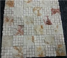Polished Natural Stone Mosaic Pattern