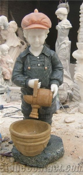 Child Sculpture,garden Little Boy Statues,western Figure Statues