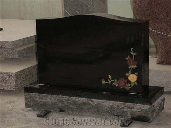 Unique Cheap Modern Black Headstone Designs Shanxi Black