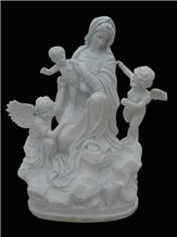 Virgin Mary Sculpture & Statues,Madonna Stone Carving,Religious Figure Sculptures