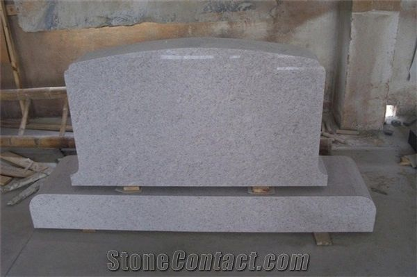 White Granite Headstone Polihsed Tombstone And Monument