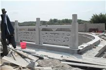 White Granite Stone Fence for the Outdoor